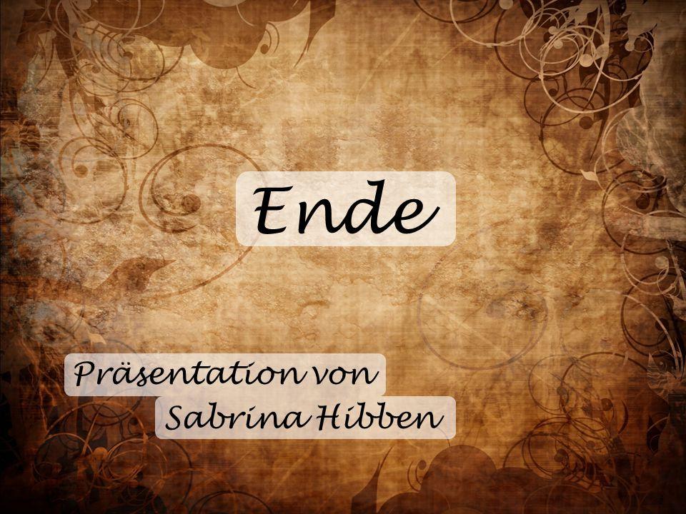 Ende Präsentation von Sabrina Hibben