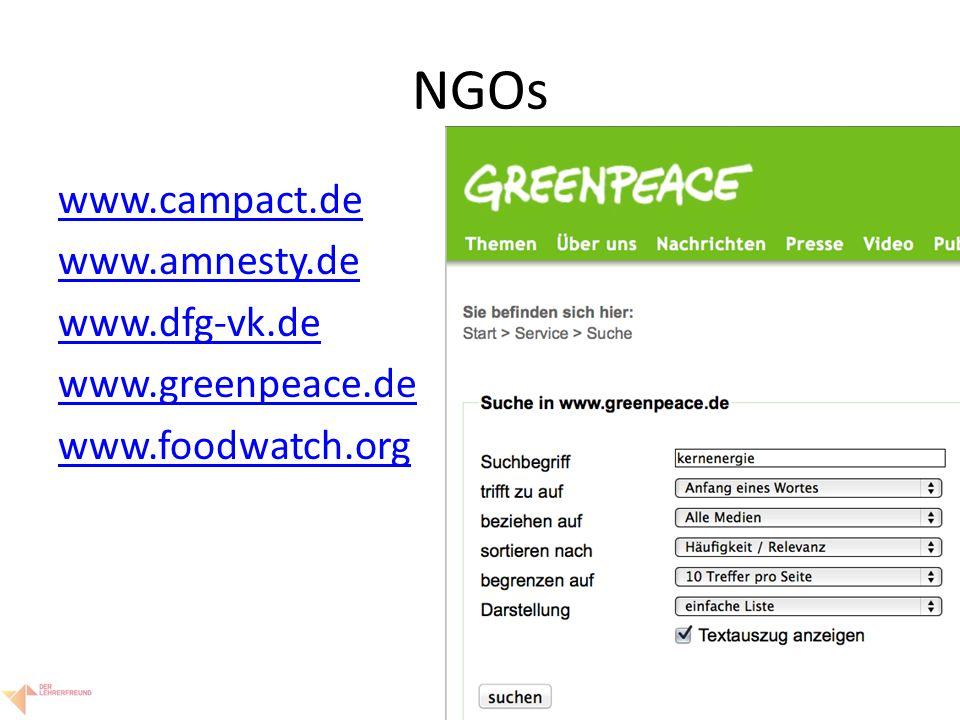 12 NGOs www.campact.de www.amnesty.de www.dfg-vk.de www.greenpeace.de www.foodwatch.org