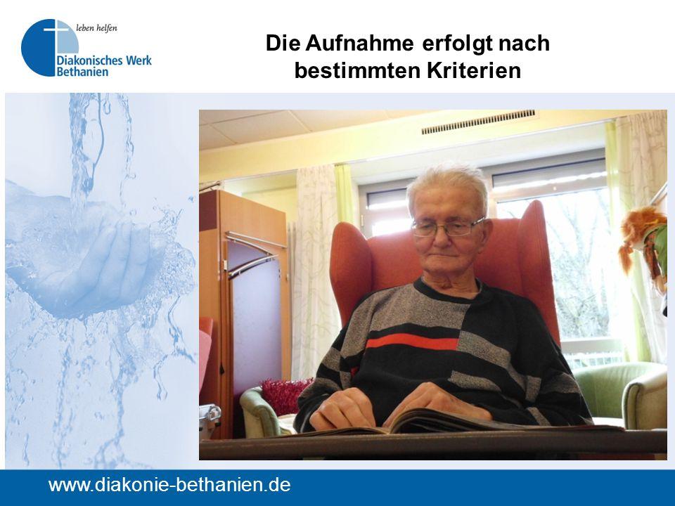 Die Aufnahme erfolgt nach bestimmten Kriterien www.diakonie-bethanien.de