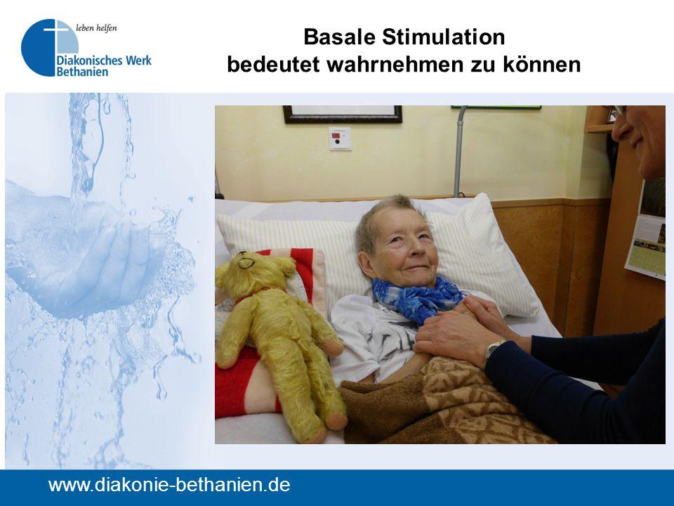 Basale Stimulation bedeutet wahrnehmen zu können www.diakonie-bethanien.de