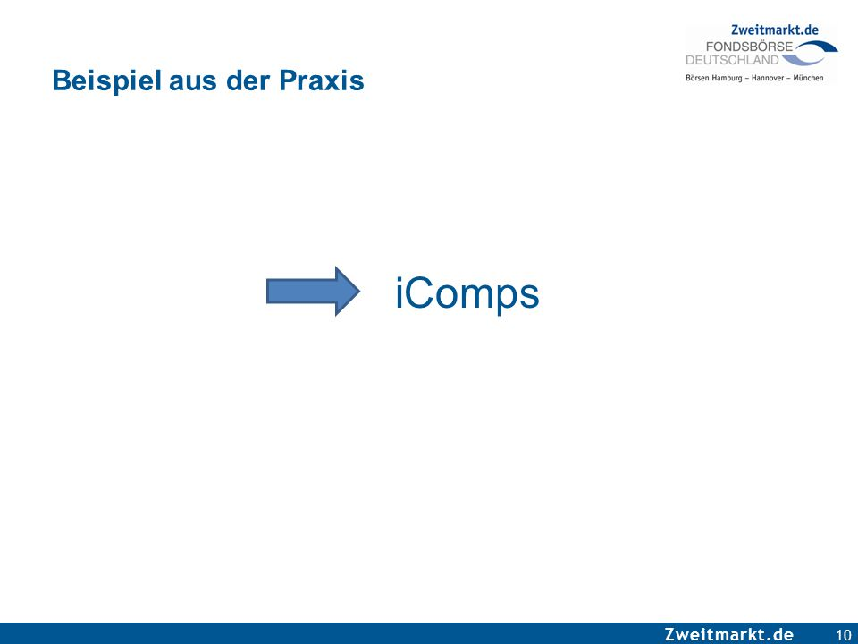 Zweitmarkt.de Beispiel aus der Praxis iComps 10