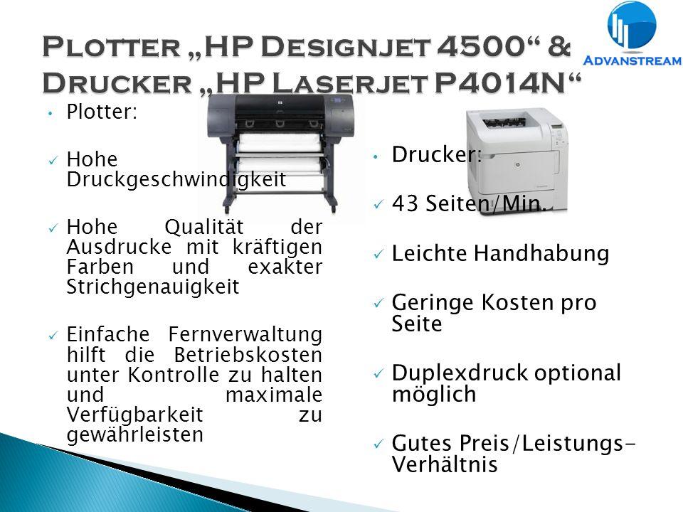 Plotter: Hohe Druckgeschwindigkeit Hohe Qualität der Ausdrucke mit kräftigen Farben und exakter Strichgenauigkeit Einfache Fernverwaltung hilft die Betriebskosten unter Kontrolle zu halten und maximale Verfügbarkeit zu gewährleisten Drucker: 43 Seiten/Min.