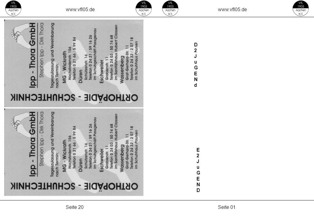 www.vfl05.de Seite 01Seite 20 D2JuGENdD2JuGENd E2JuGENDE2JuGEND
