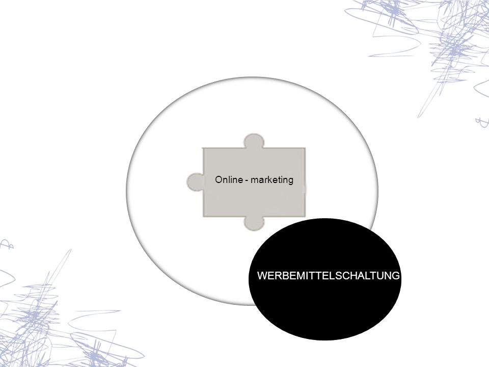 Online - marketing WERBEMITTELSCHALTUNG
