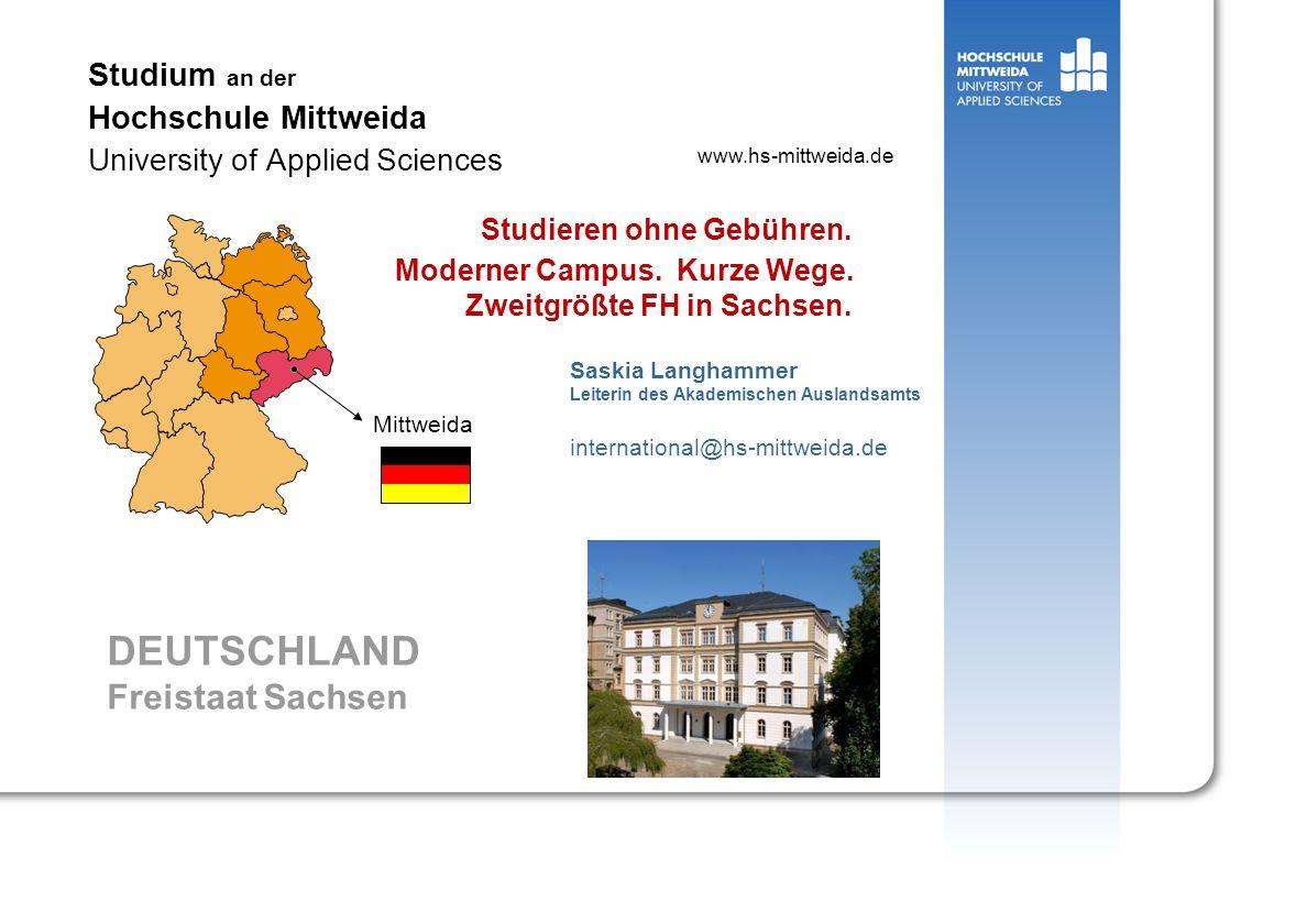Auslandsamt, Mail: langhamm@hs-mittweida.de Wie kommt man nach Mittweida.