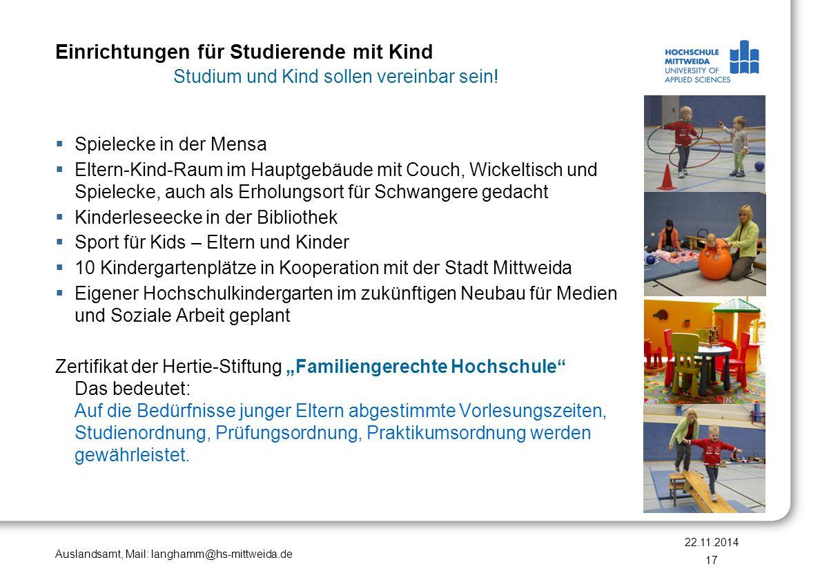 Auslandsamt, Mail: langhamm@hs-mittweida.de Promotion  Der Freistaat Sachsen möchte 10% der Hochschulabsolventen zur Promotion führen.