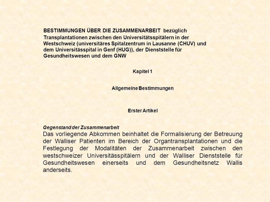 Kapitel 1 Allgemeine Bestimmungen Erster Artikel Gegenstand der Zusammenarbeit Das vorliegende Abkommen beinhaltet die Formalisierung der Betreuung de