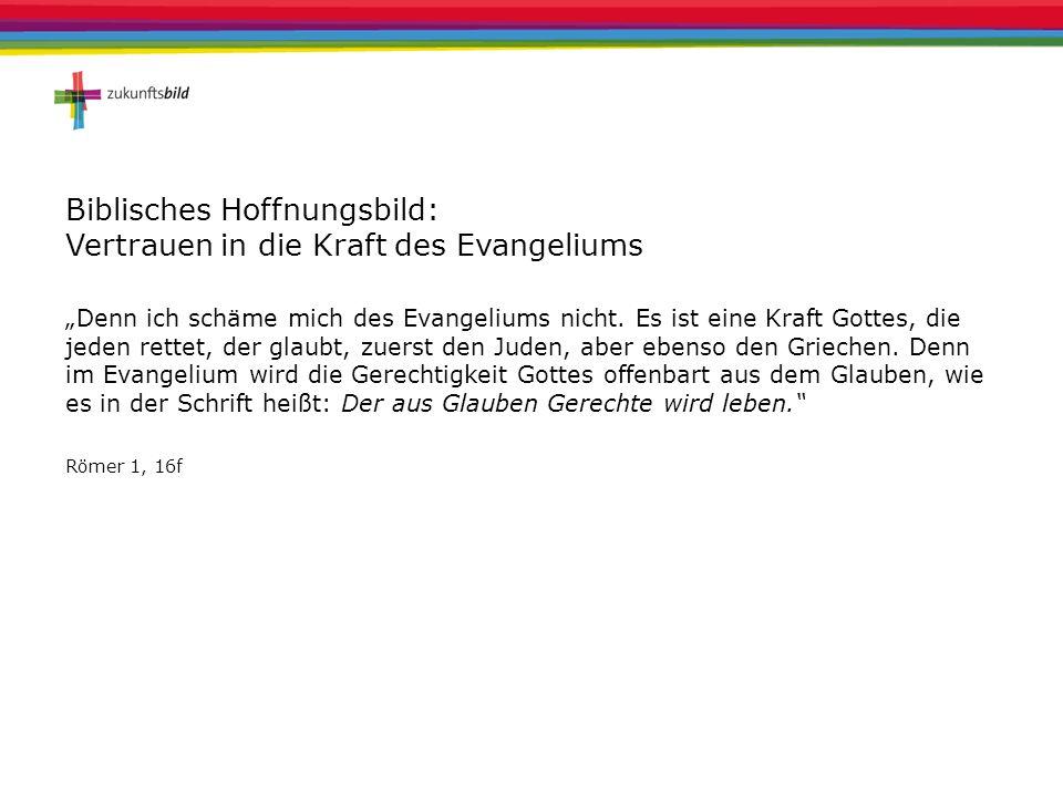 Zentrale Aussagen des Zukunftsbildes (9) Wachstum fördern Die Kirche von Paderborn findet Stärkung in positiven Erfahrungen und Neuaufbrüchen.