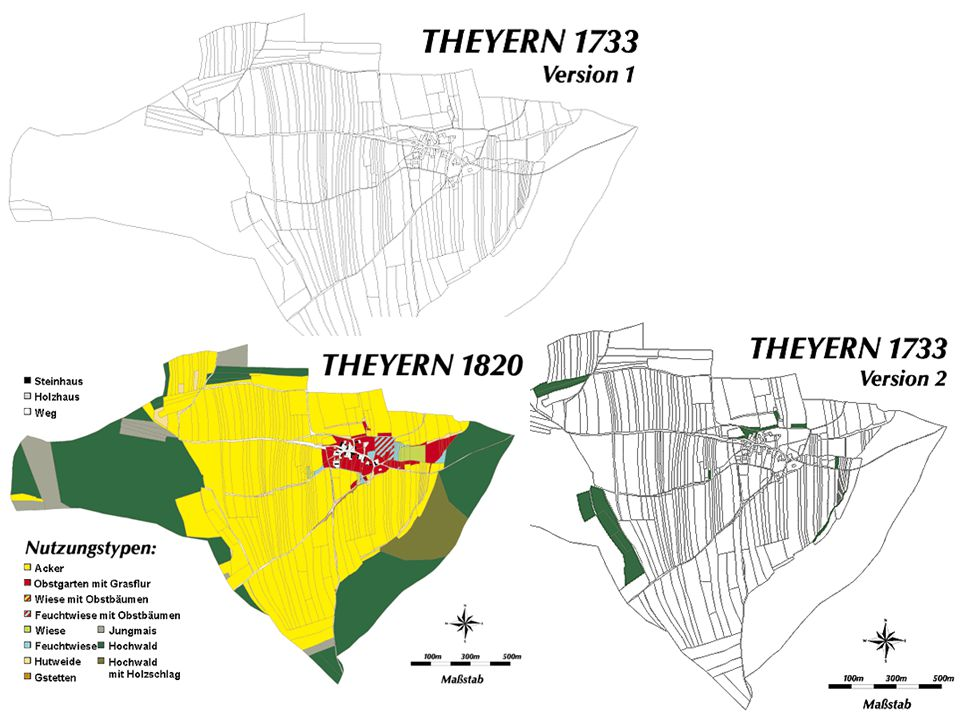 StAG, KA/III-6. Local- Urbarii-Beschreibung über das Dorf Theyern 1733