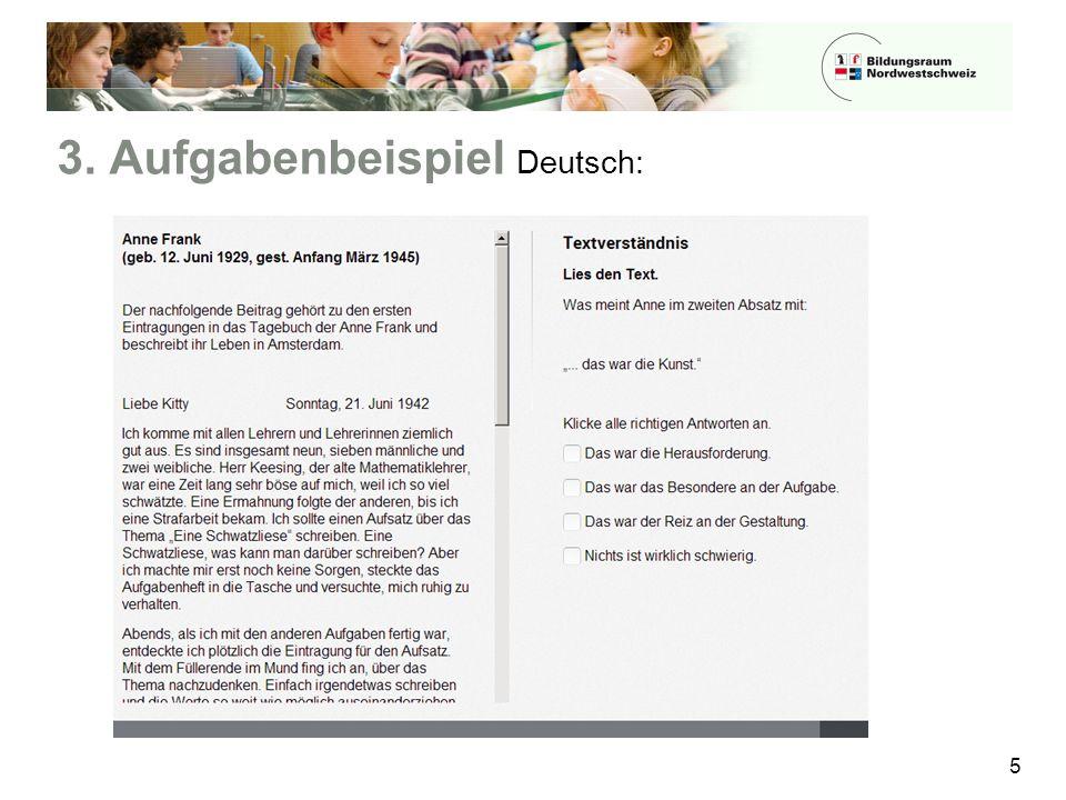 3. Aufgabenbeispiel Deutsch: 5