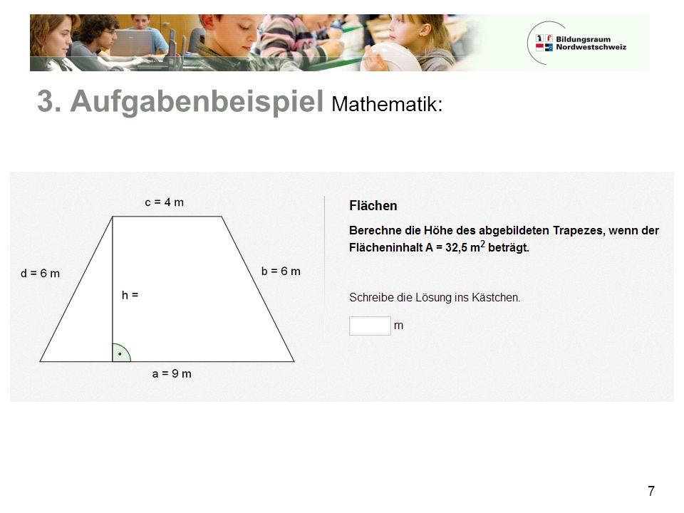 3. Aufgabenbeispiel Mathematik: 7