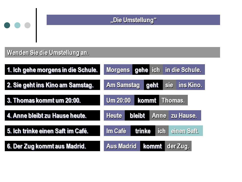 """""""Die Umstellung Wenden Sie die Umstellung an. 1."""