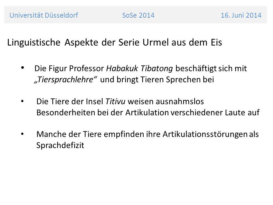 Universität Düsseldorf SoSe 2014 16.
