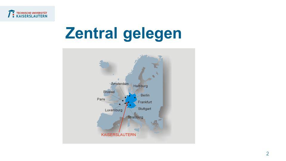 2 Zentral gelegen