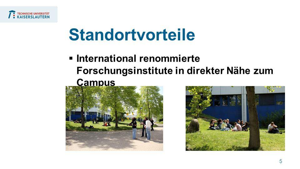 5  International renommierte Forschungsinstitute in direkter Nähe zum Campus Standortvorteile