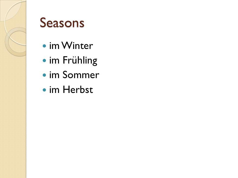 Seasons im Winter im Frühling im Sommer im Herbst