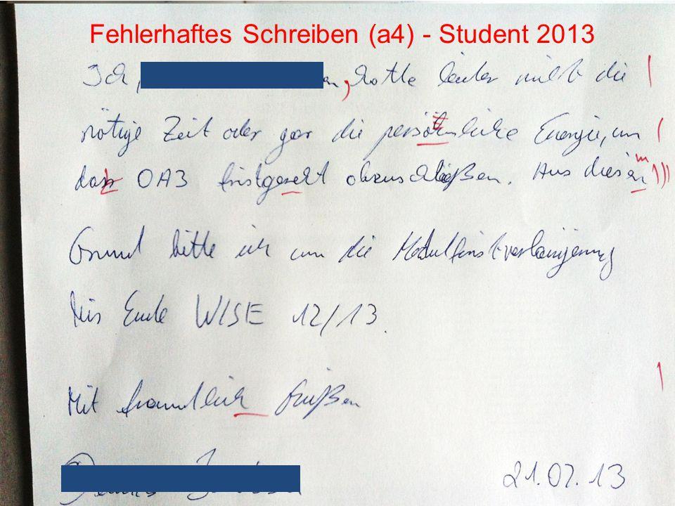 Fehlerhaftes Schreiben (a4) - Student 2013