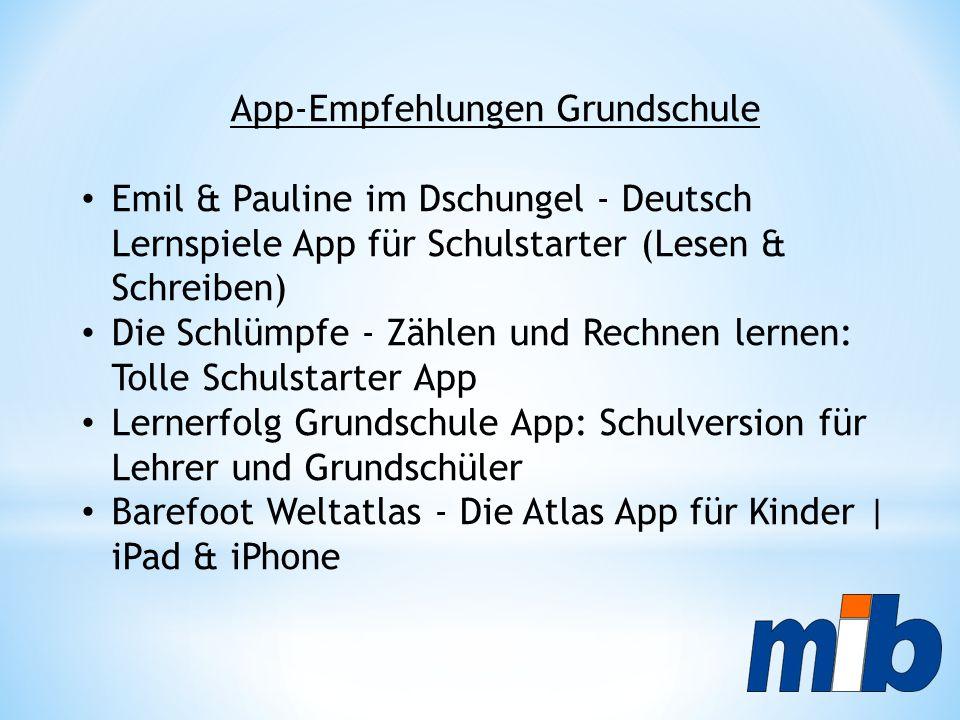 App-Empfehlungen Grundschule Emil & Pauline im Dschungel - Deutsch Lernspiele App für Schulstarter (Lesen & Schreiben) Die Schlümpfe - Zählen und Rech