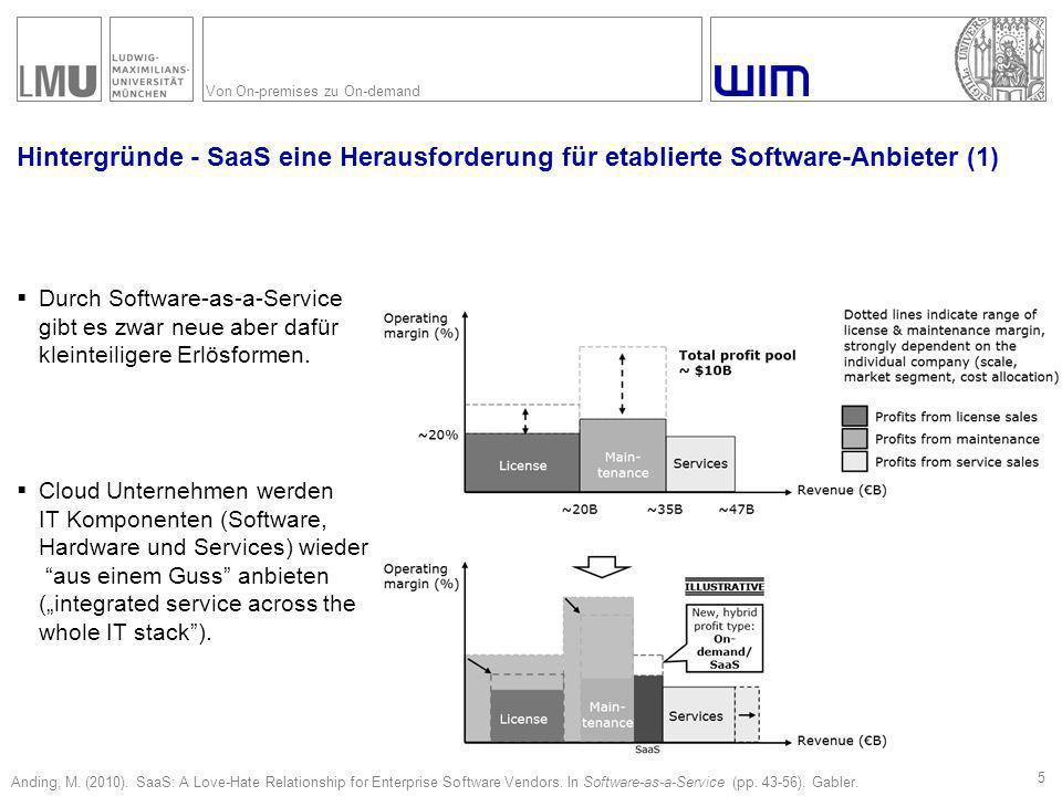 Von On-premises zu On-demand Hintergründe - SaaS eine Herausforderung für etablierte Software-Anbieter (1)  Durch Software-as-a-Service gibt es zwar