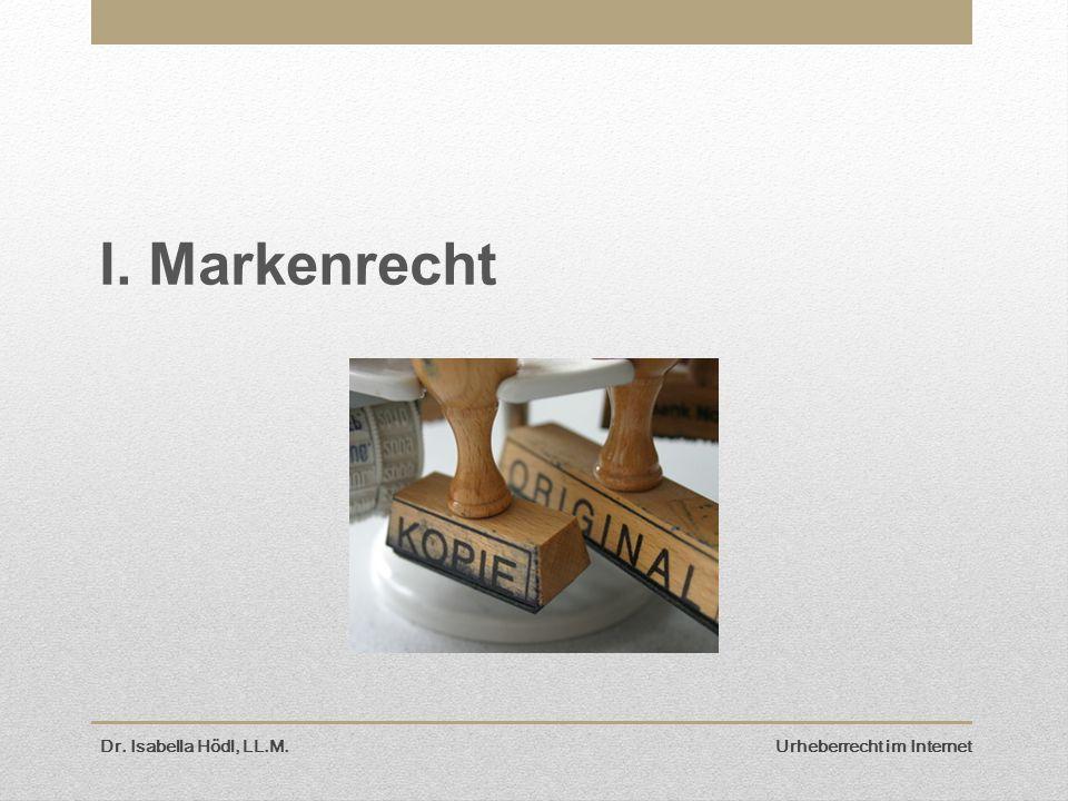 I. Markenrecht