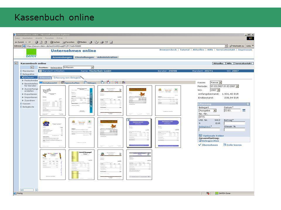Kassenbuch online