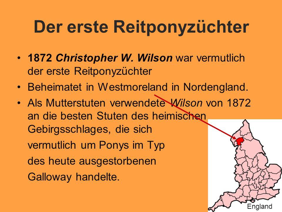 Der erste Reitponyzüchter 1872 Christopher W.