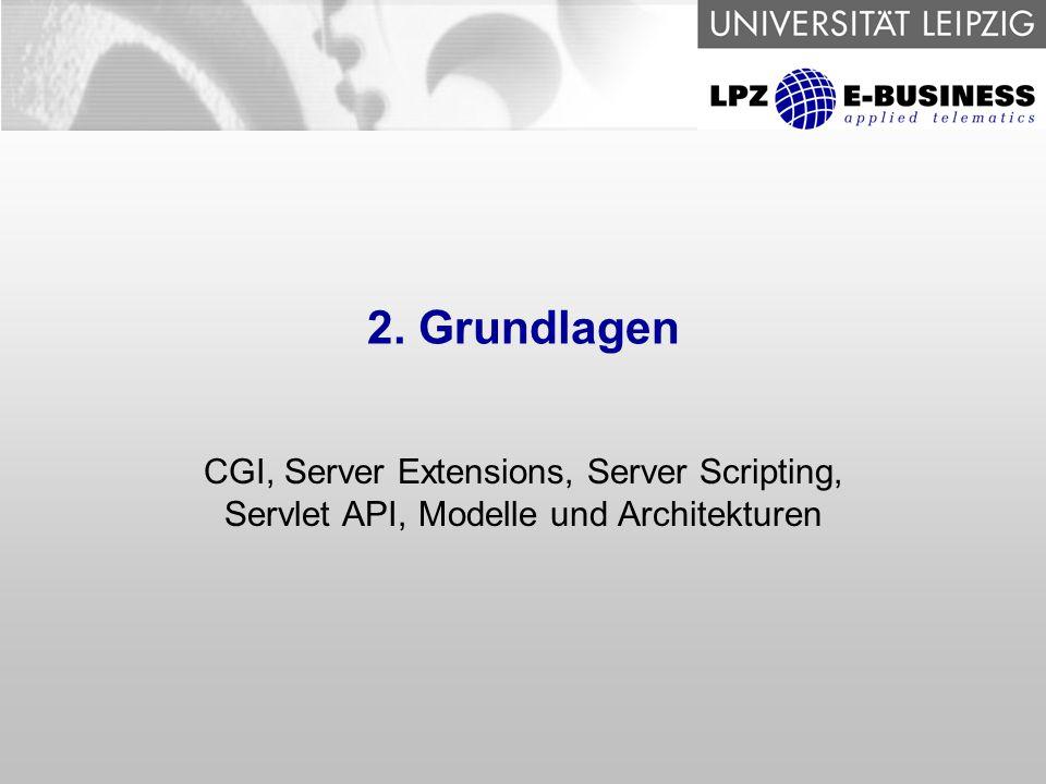 """7 Frameworks zur Implementierung von Hypertext Anwendungen CGI, Server-Extensions CGI – Interface zwischen WebServer und Anwendung ClientClient ServerServer AnwendungAnwendung Request Response """"fork Ausgabe (HTML) Server Extensions: WebServer-spezifische API z.B."""