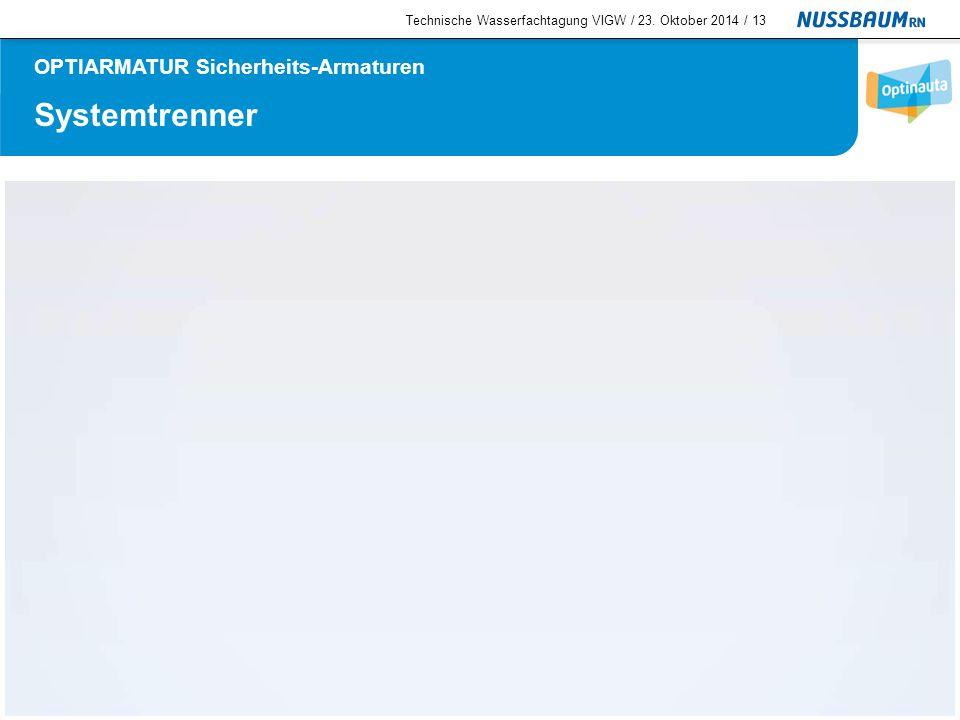 Systemtrenner  Systemtrenner BA, PN 10 Technische Informationen Der Ablauf der Mittelkammer muss in einen offenen Trichter geleitet werden (Sichtkontrolle).