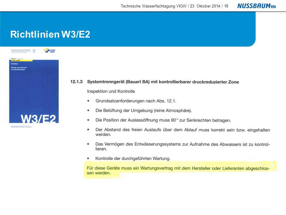 Service für Systemtrenngeräte service@nussbaum.ch Technische Wasserfachtagung VIGW / 23.