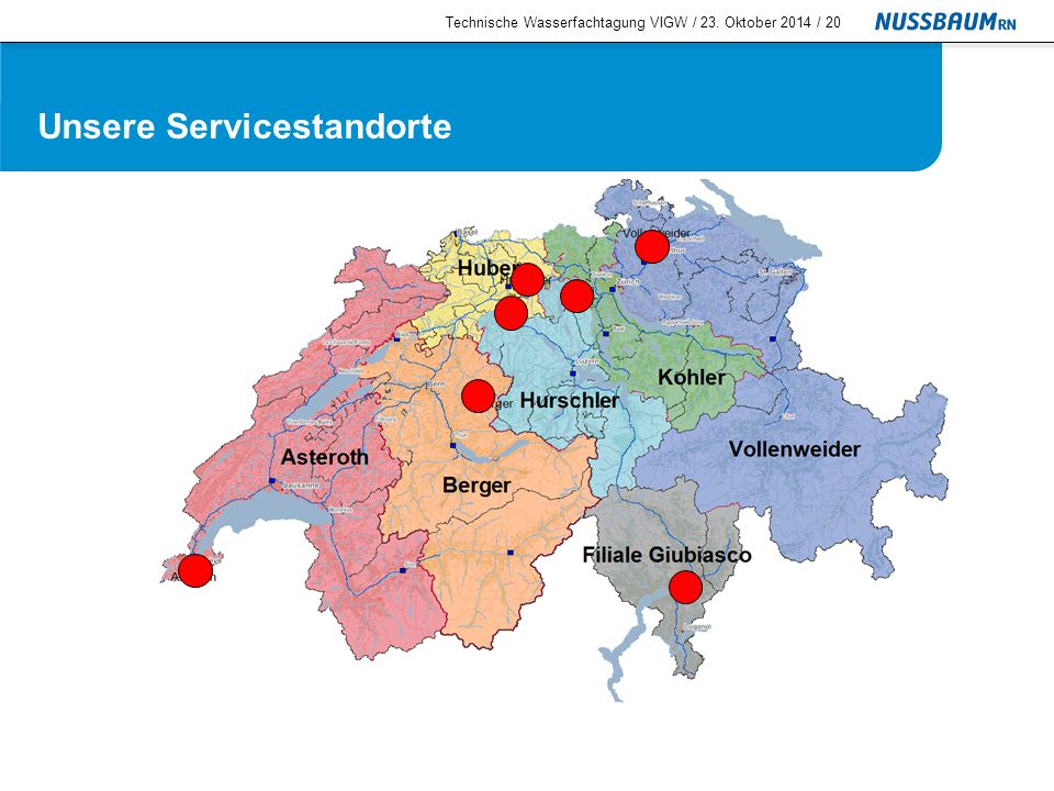Wartungsangebot Systemtrenngeräte Technische Wasserfachtagung VIGW / 23. Oktober 2014 /21