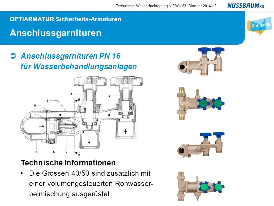 KRV-Ventil  KRV-Ventil PN 16 Technische Informationen Für Wasser bis 90 °C Flüssigkeitskategorien 1 + 2 Technische Wasserfachtagung VIGW / 23.