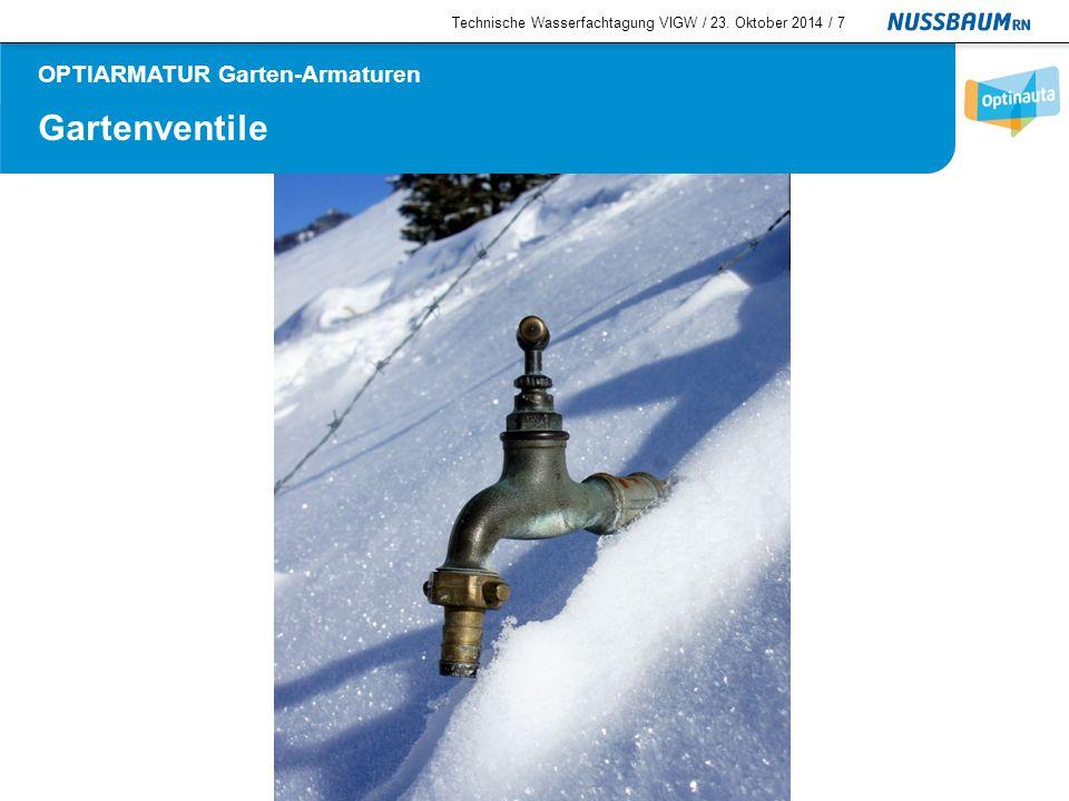 Gartenventile  Gartenventil frostsicher PN 16 Technische Wasserfachtagung VIGW / 23.