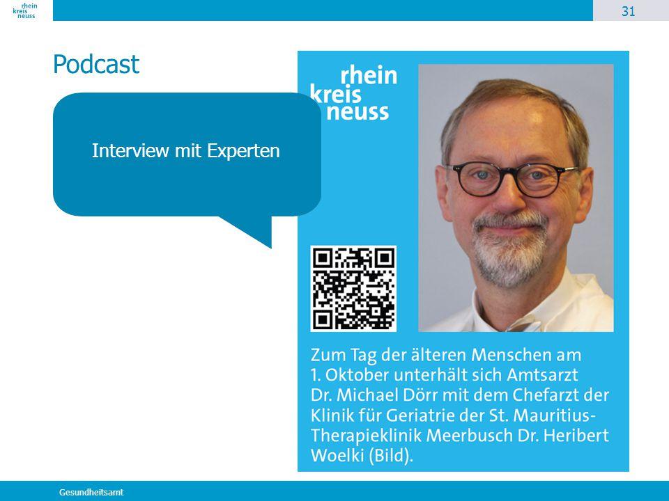 31 Gesundheitsamt Podcast Interview mit Experten