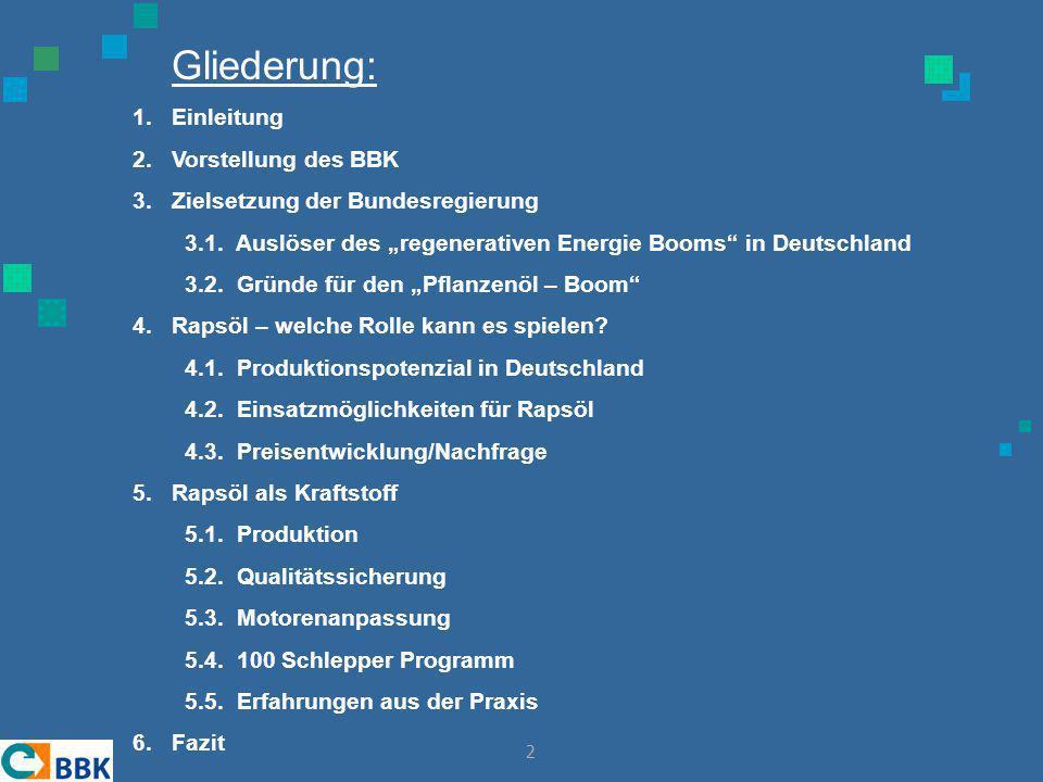 13 Theoretisch (!) maximal in Deutschland zu produzierende Rapsölmenge (Jahr)  Deutschland hat ca.12 Mio.