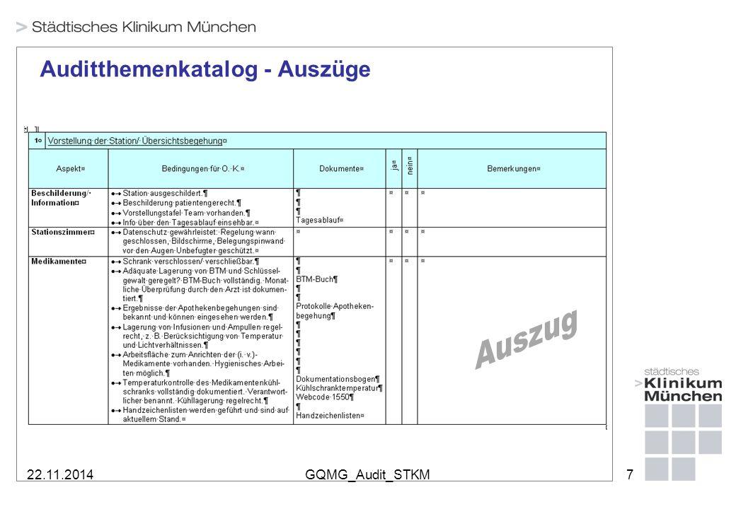 22.11.2014GQMG_Audit_STKM7 Auditthemenkatalog - Auszüge