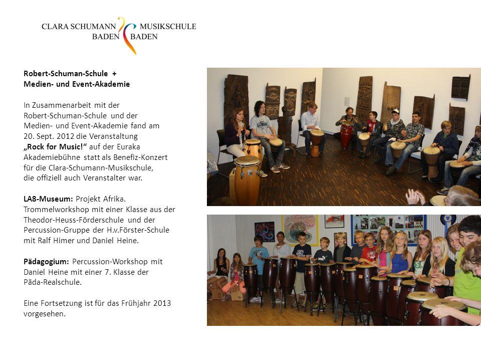 Robert-Schuman-Schule + Medien- und Event-Akademie In Zusammenarbeit mit der Robert-Schuman-Schule und der Medien- und Event-Akademie fand am 20. Sept