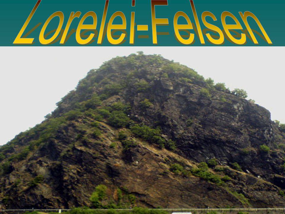 Am Rhein, zwischen den Staedten Bingen und Koblenz, steht ein Felsen.