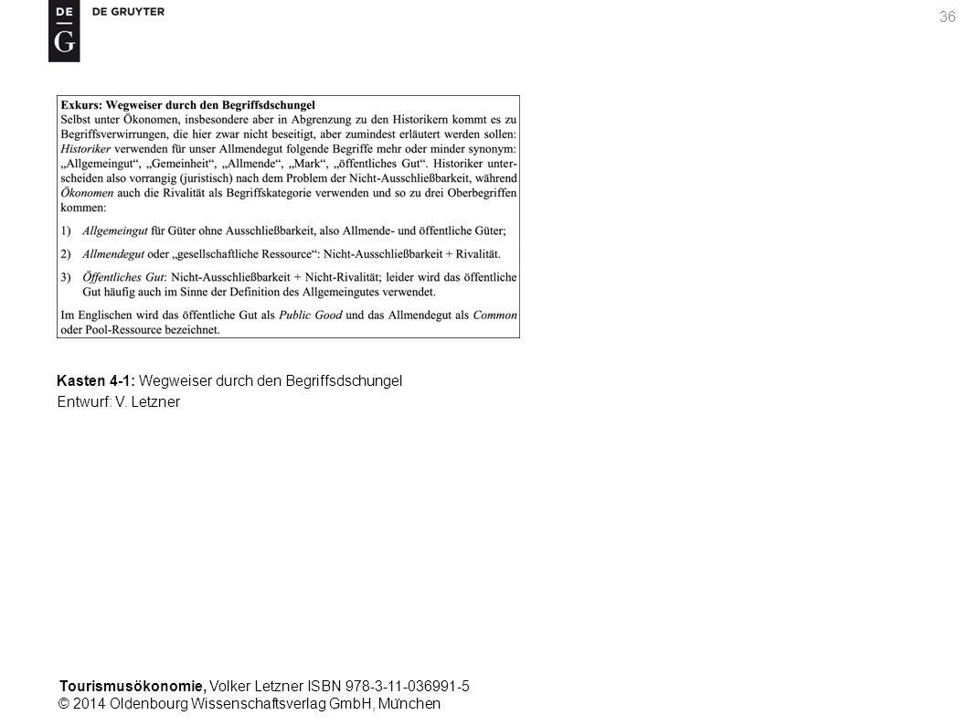 Tourismusökonomie, Volker Letzner ISBN 978-3-11-036991-5 © 2014 Oldenbourg Wissenschaftsverlag GmbH, Mu ̈ nchen 36 Kasten 4-1: Wegweiser durch den Begriffsdschungel Entwurf: V.