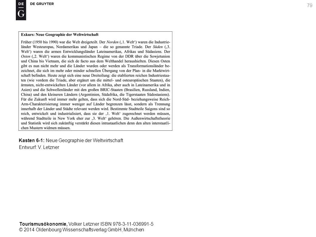 Tourismusökonomie, Volker Letzner ISBN 978-3-11-036991-5 © 2014 Oldenbourg Wissenschaftsverlag GmbH, Mu ̈ nchen 79 Kasten 6-1: Neue Geographie der Weltwirtschaft Entwurf: V.
