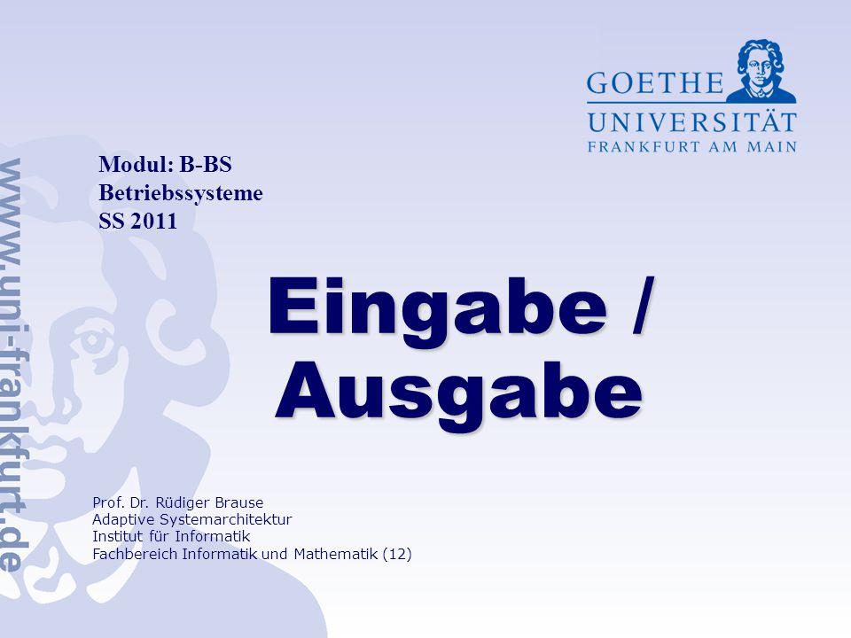 Modul: B-BS Betriebssysteme SS 2011 Prof.Dr.