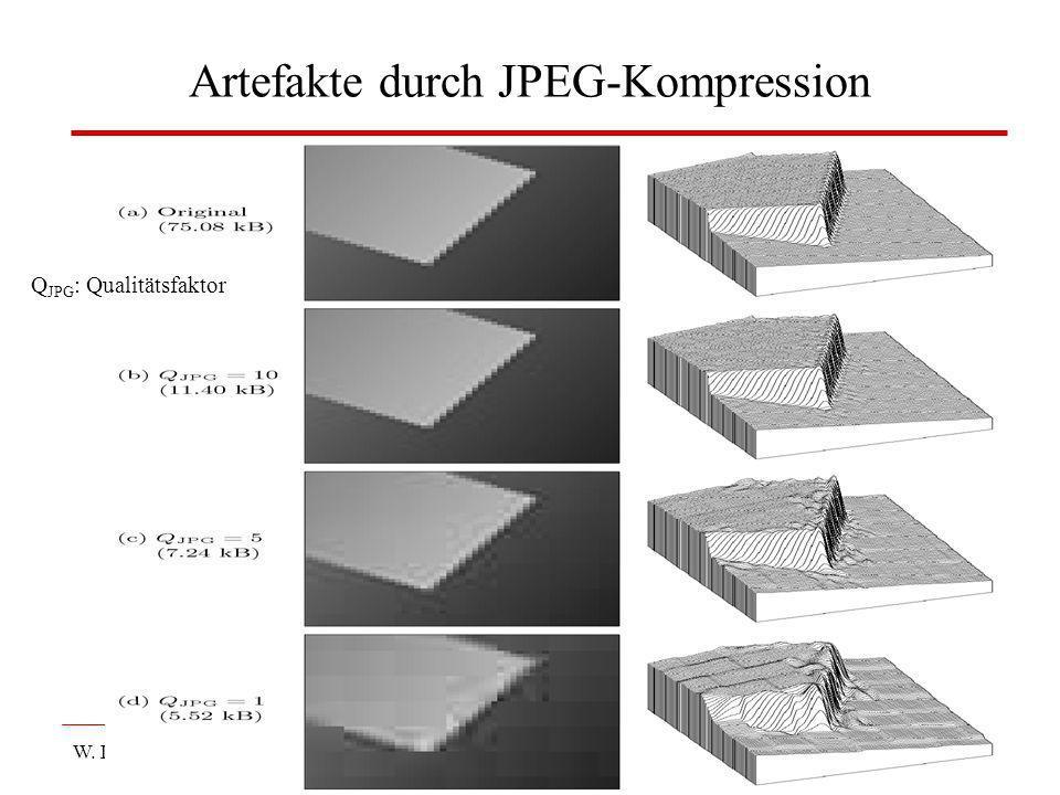 W. Lux, FH Düsseldorf BV: Kap 3 Digitale Bilder31 Artefakte durch JPEG-Kompression Q JPG : Qualitätsfaktor