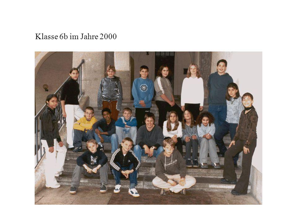 Klasse 6b im Jahre 2000