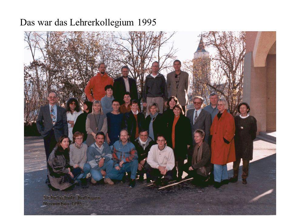 Das war das Lehrerkollegium 1995