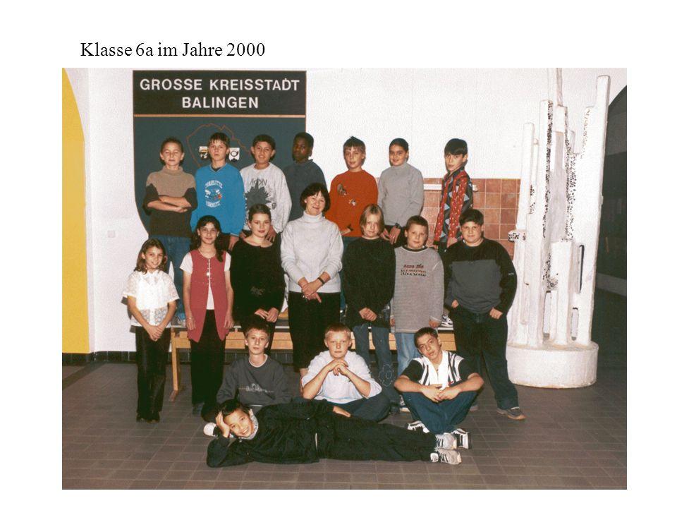 Klasse 6a im Jahre 2000
