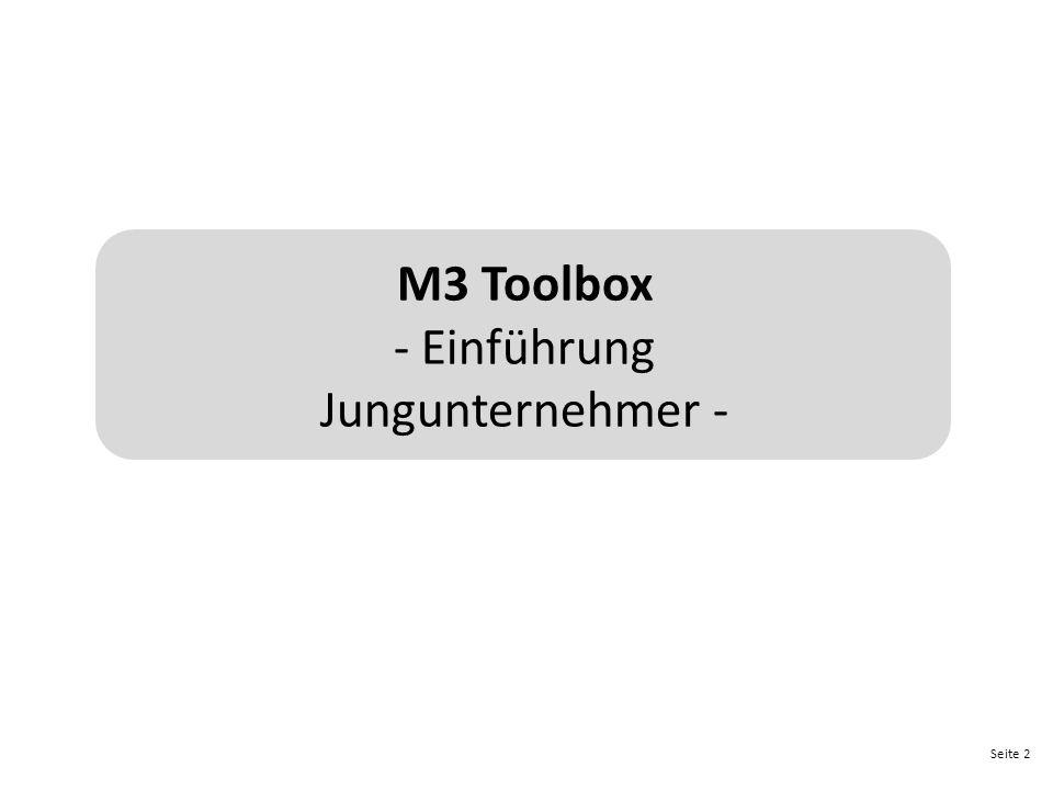 Seite 2 M3 Toolbox - Einführung Jungunternehmer -