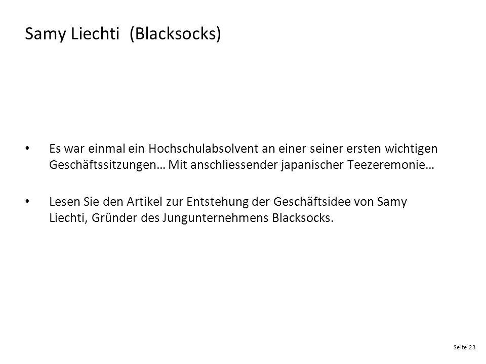 Seite 23 Samy Liechti (Blacksocks) Es war einmal ein Hochschulabsolvent an einer seiner ersten wichtigen Geschäftssitzungen… Mit anschliessender japan