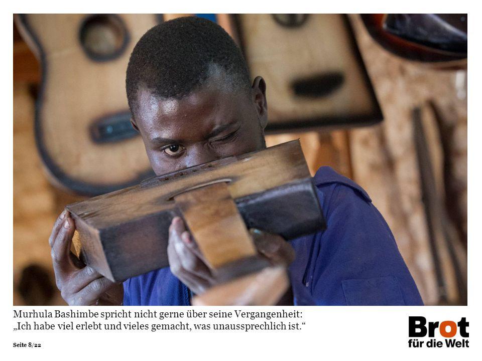 """Seite 8/22 Murhula Bashimbe spricht nicht gerne über seine Vergangenheit: """"Ich habe viel erlebt und vieles gemacht, was unaussprechlich ist."""