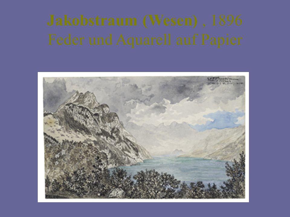 Jakobstraum (Wesen), 1896 Feder und Aquarell auf Papier
