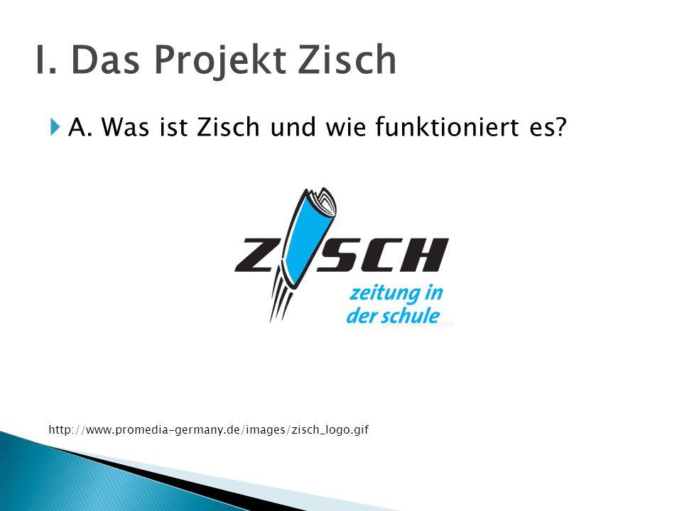  A.Was ist Zisch und wie funktioniert es. http://www.promedia-germany.de/images/zisch_logo.gif I.