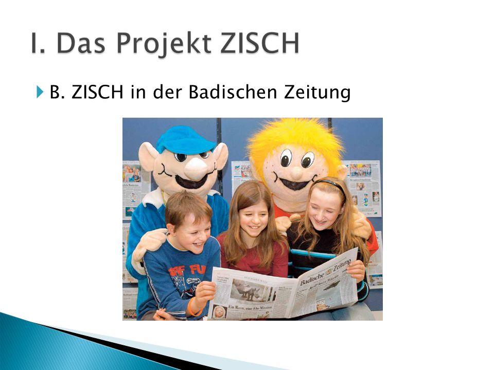  B. ZISCH in der Badischen Zeitung